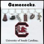 Collegiate Gifts 81121 Set of 2 South Carolina Gamecocks Charms