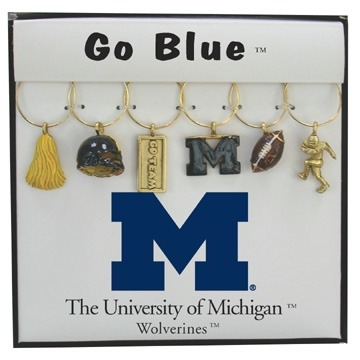 Collegiate Gifts 81131 Set of 2 Michigan Wolverines Charms