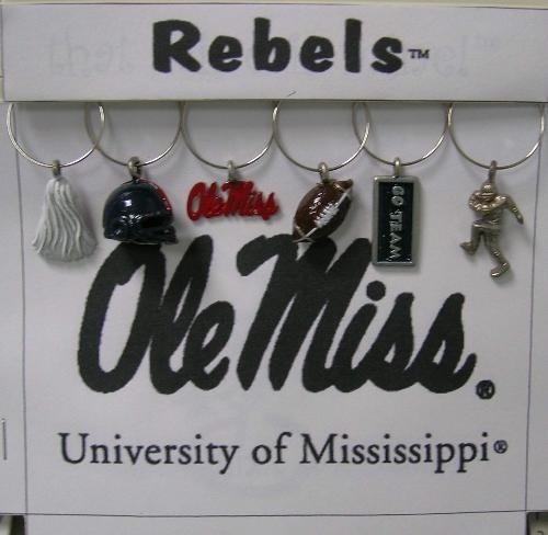 Collegiate Gifts 81191 Set of 2 Mississippi Rebels Charms