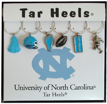Collegiate Gifts 81701 Set of 2 North Carolina Tarheels Charms