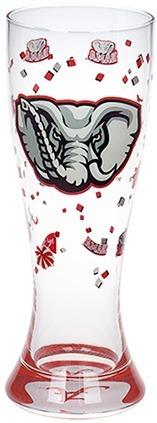 Collegiate Gifts 82901 Set of 6 Alabama Crimson Tide Fanware Pilsner Glasses