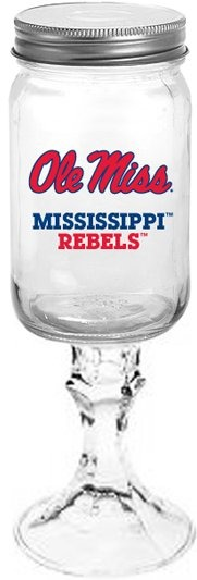 Collegiate Gifts 84191 Set of 6 Ole Miss Rebels All American Redneck Wine Glasses