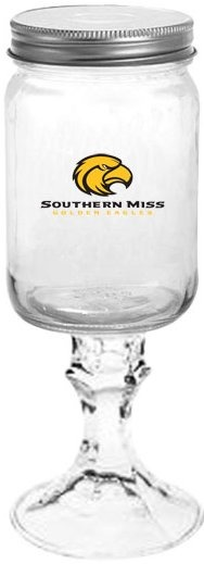 Collegiate Gifts 84231 Set of 6 Southern Miss Golden Eagles All American Redneck Wine Glasses