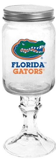 Collegiate Gifts 84271 Set of 6 Florida Gators Gator Head All American Redneck Wine Glasses