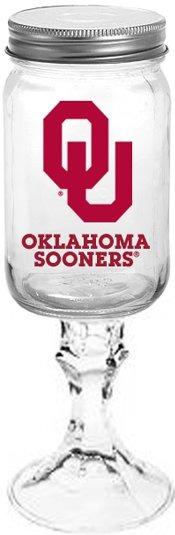 Collegiate Gifts 84281 Set of 6 Oklahoma Sooners All American Redneck Wine Glasses