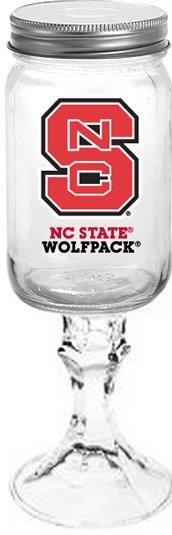 Collegiate Gifts 84531 Set of 6 NC State Wolfpack All American Redneck Wine Glasses