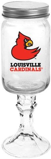Collegiate Gifts 84921 Set of 6 Louisville Cardinals All American Redneck Wine Glasses