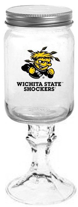 Collegiate Gifts 84981 Set of 6 Wichita State Shockers All American Redneck Wine Glasses