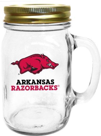 Collegiate Gifts 85101 Set of 6 Arkansas Razorbacks All American Mugs