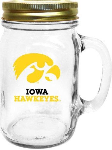 Collegiate Gifts 85361 Set of 6 Iowa Hawkeyes All American Mugs