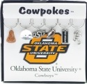 Collegiate Gifts 81141 Set of 2 Oklahoma State Cowboys Painted Glassware Charms