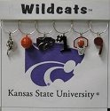 Collegiate Gifts 81181 Set of 2 Kansas State Wildcats Painted Glassware Charms