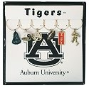 Collegiate Gifts 81201 Set of 2 Auburn Tigers Painted Glassware Charms