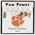 Collegiate Gifts 81301 Set of 2 Clemson Tigers Charms