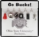 Collegiate Gifts 81351 Set of 2 Ohio State Buckeyes Painted Glassware Charms