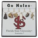 Collegiate Gifts 81401 Set of 2 FSU Seminoles Painted Glassware Charms
