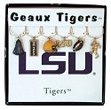Collegiate Gifts 81601 Set of 2 Louisiana State Tigers Painted Glassware Charms