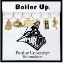 Collegiate Gifts 81631 Set of 2 Purdue Boilermakers Charm