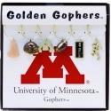Collegiate Gifts 81821 Set of 2 Minnesota Golden Gophers Painted Glassware Charms