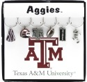 Collegiate Gifts 81851 Set of 2 Texas A&M Aggies Painted Glassware Charms