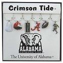 Collegiate Gifts 81901 Set of 2 Alabama Crimson Tide Painted Glassware Charms