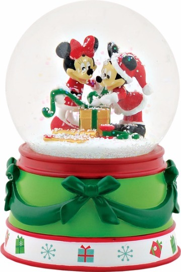 Disney by Department 56 4057490 Mickey Minnie Water Globe
