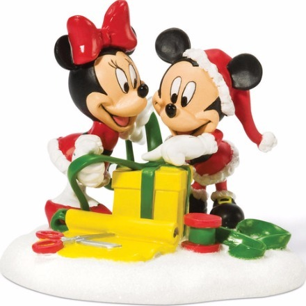 Disney by Department 56 811276 Mickey & Minnie Wrapping Gifts