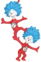 Dr Seuss by Department 56 6011075 Thing 1 Thing 2 Ornament