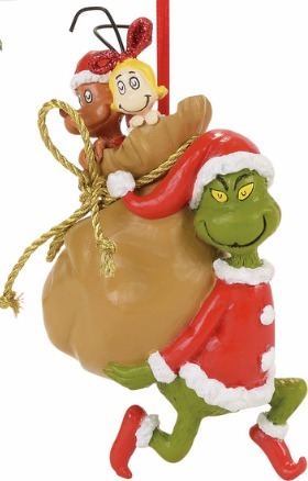 Grinch by Department 56 4057461 Santy Claus Stowaways Ornament