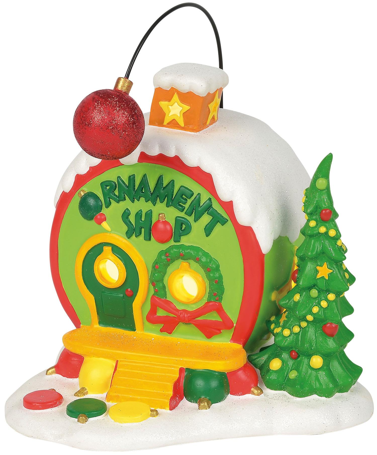 Grinch Villages by Department 56 4059421N Who-Ville Ornament Shop