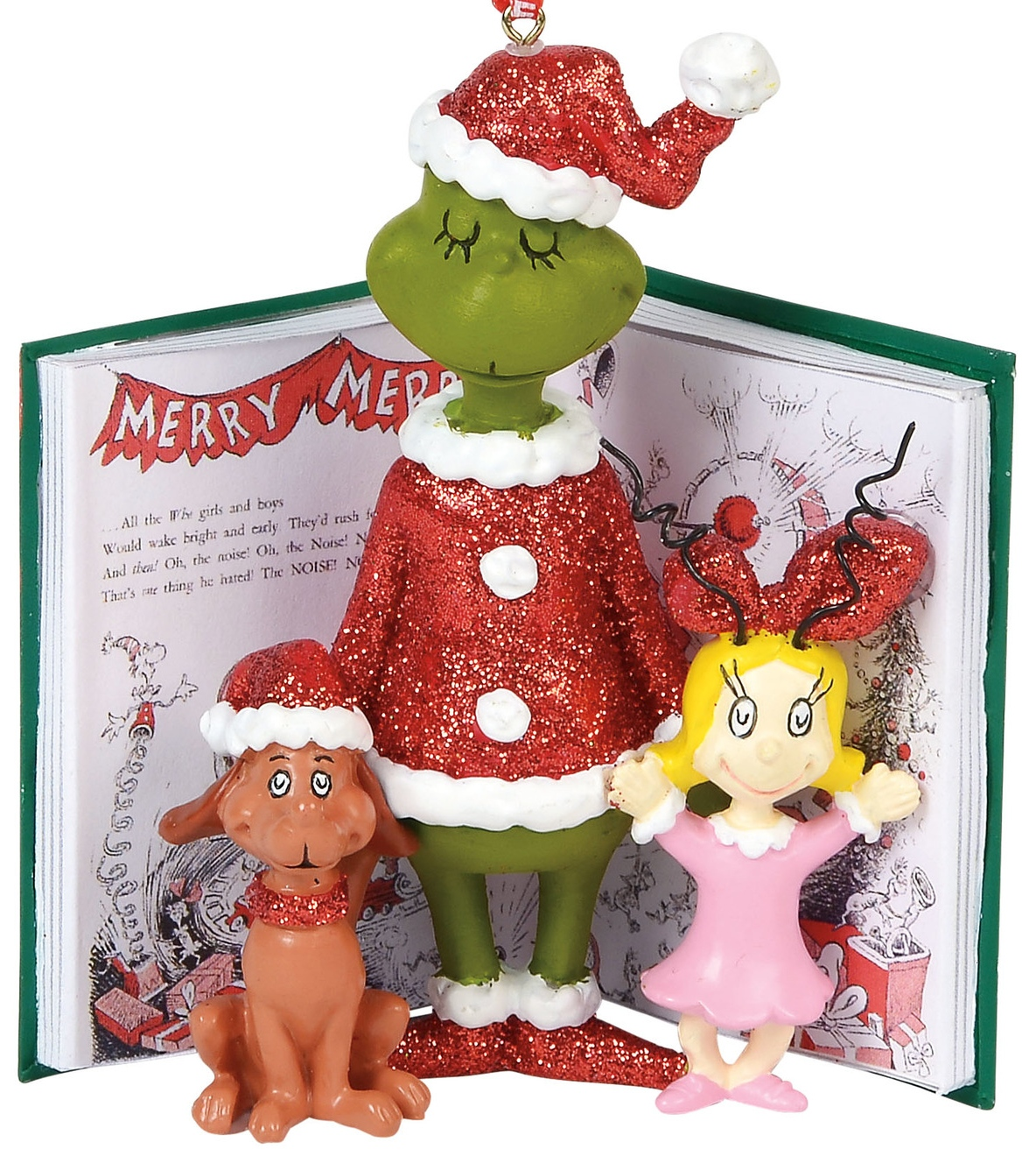Grinch by Department 56 6000301 Grinch Cindy and Max Book Ornament