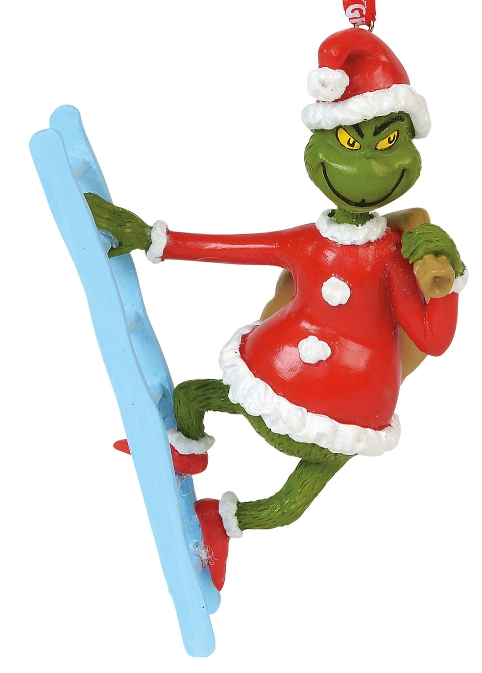 Grinch by Department 56 6000305 Grinch on a Ladder Ornament