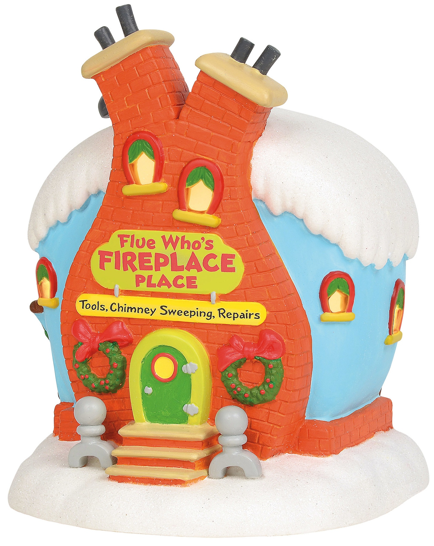 Grinch Villages by Department 56 6003319N Flue Whos Fireplace Place