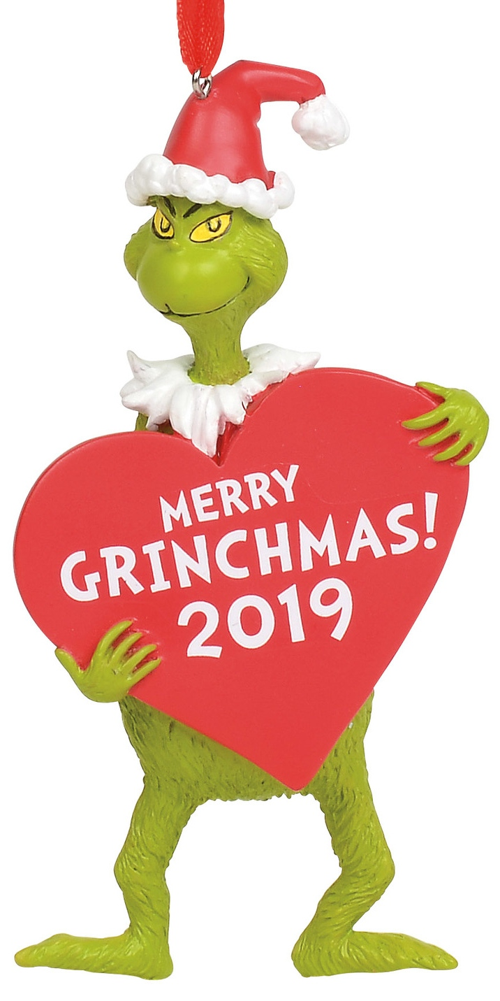 Grinch by Department 56 6011001 Grinch with Heart Dated Ornament