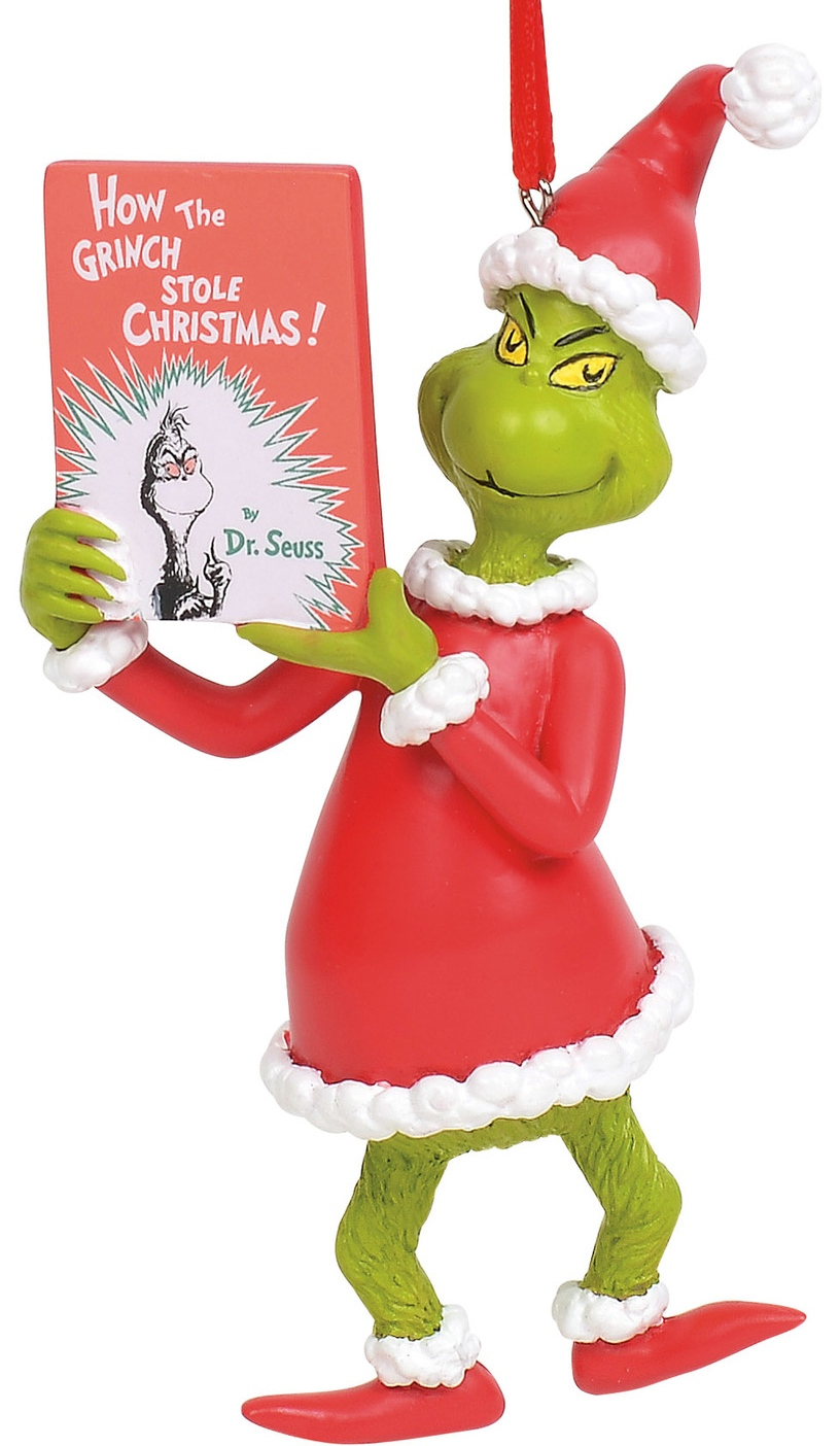 Grinch by Department 56 6011002 Grinch with Book Ornament