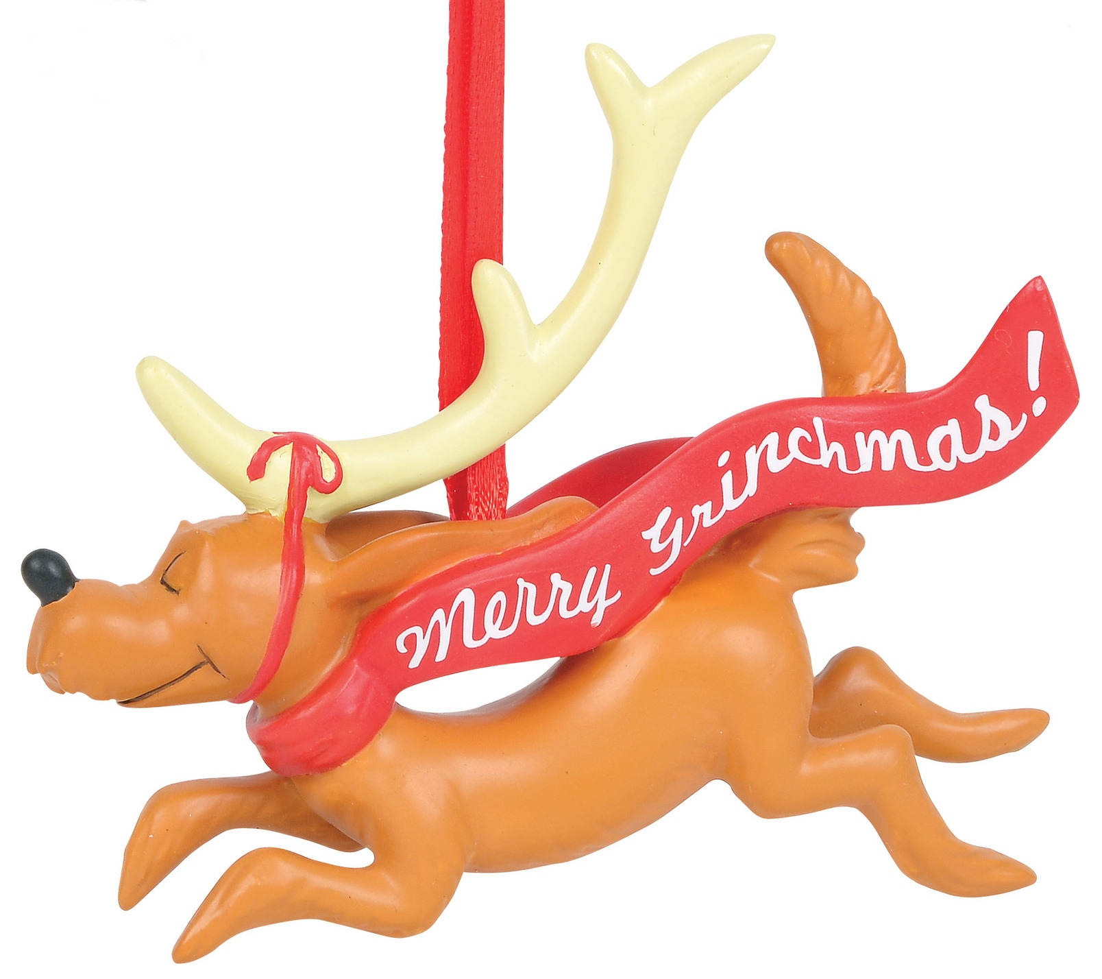 Grinch by Department 56 6011004 Max with banner Ornament