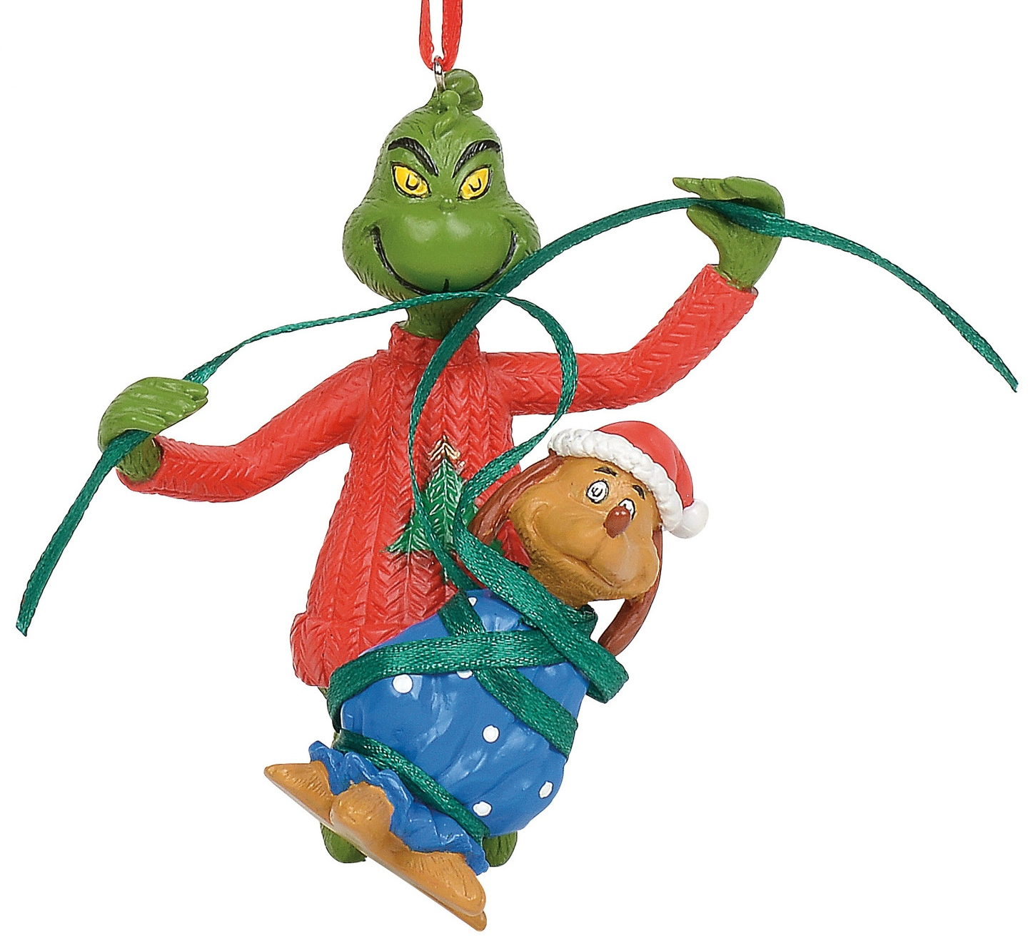 Grinch by Department 56 6011005 Grinch wrapping Max Ornament