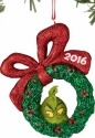 Grinch by Department 56 4044985 2016 Grinch Wreath Ornament