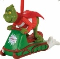 Grinch by Department 56 4056987 Snowmobiling Fun Ornament