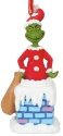 Grinch by Department 56 6000310 Into The Chimney Musical Ornament