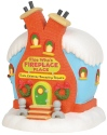 Grinch Villages by Department 56 6003319 Flue Whos Fireplace Place