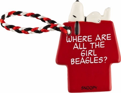 Peanuts by Department 56 4032715 Girl Beagles Tag