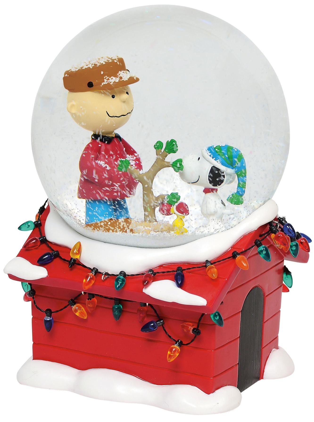 Peanuts by Department 56 5056999N Charlie Brown Christmas Musical Globe