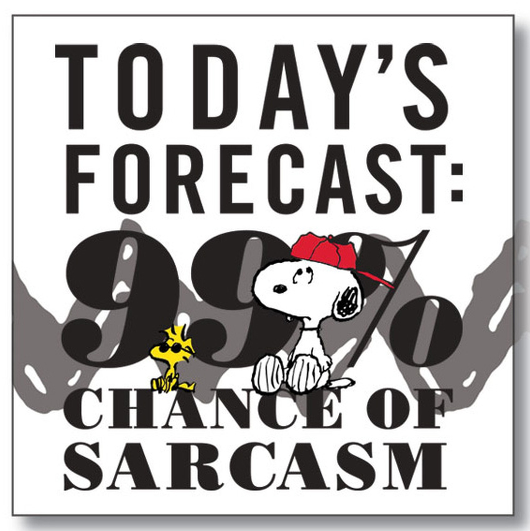 Peanuts by Department 56 6002599 99% Chance of Sarcasm magnet