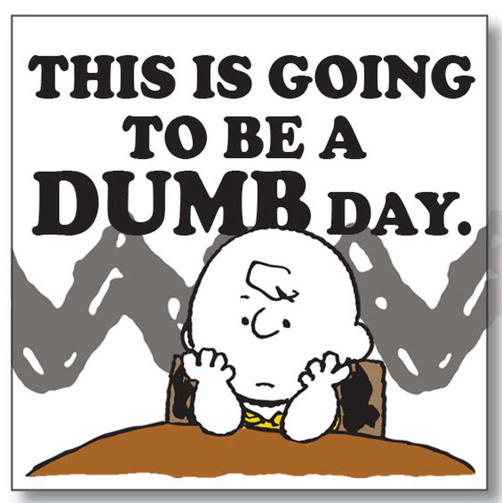Peanuts by Department 56 6002600 Dumb Day magnet