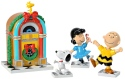 Peanuts by Department 56 6000353N Peanuts Juke Box Party Set of 4