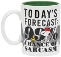 Peanuts by Department 56 6002591N 99% Chance of Sarcasm Mug