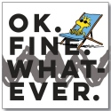 Peanuts by Department 56 6002597N OK Fine Whatever magnet