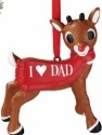 Rudolph by Department 56 4057211 I Heart Dad Ornament