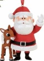 Rudolph by Department 56 4057967 Rudolph and Santa Ornament
